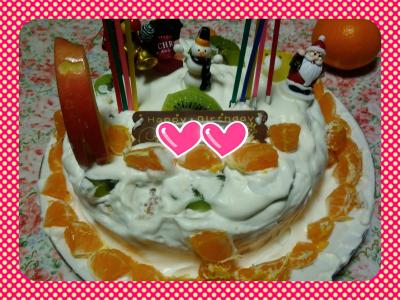 手作りデコレーションケーキ♪