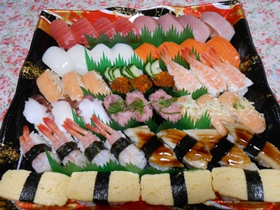 娘10歳の誕生日のリクエスト_お寿司♪