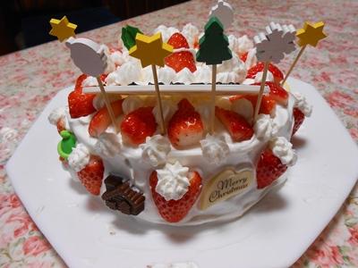 2020年クリスマスケーキ作り_完成ウラ側♪